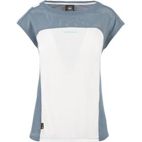 La Sportiva Traction Maglietta a maniche corte Donna grigio/bianco